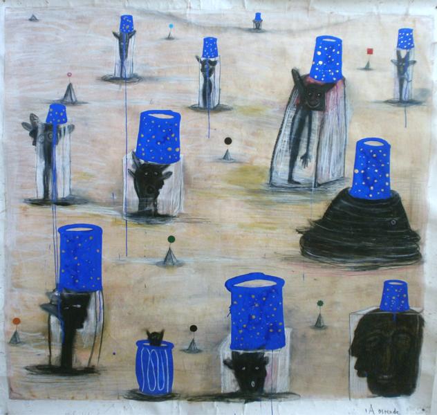 2000-2012_A Ostende, je tire au stand,  130cmx130cm