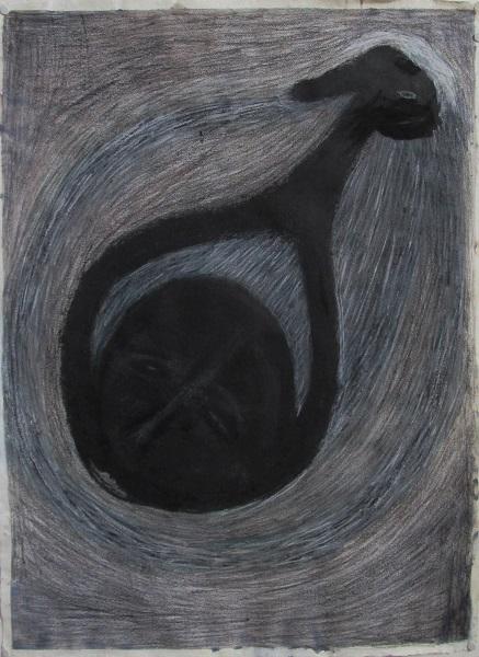 Dessins noirs 2016 56x76cm