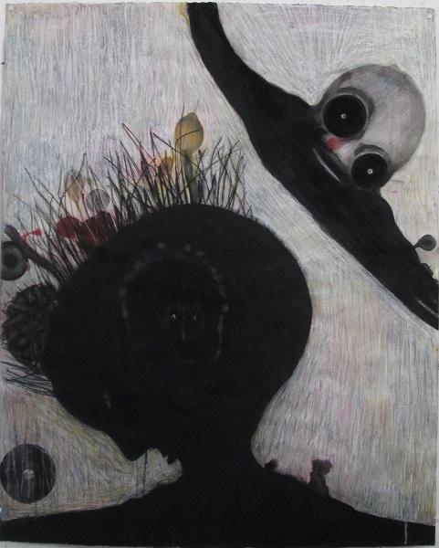 Dessins noirs 2017 S.t. 93x112cm