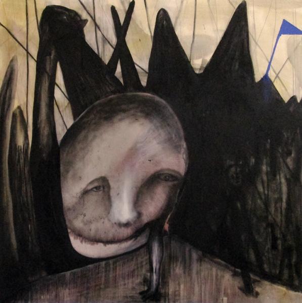 Sans titre (Autoportrait militant)150x150cm 2015