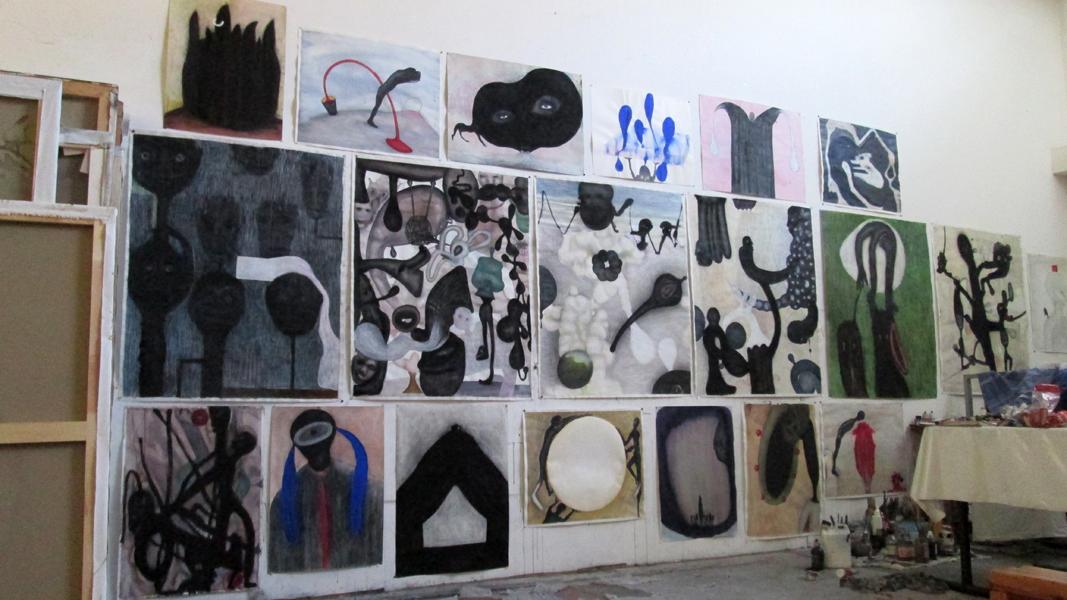 ( dessins états d'âme ) Vue atelier 2015